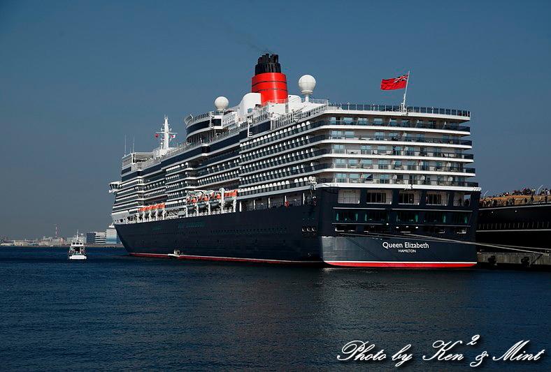 英 豪華客船 「クイーン・エリザベス3世」 横浜初寄港♪_e0218518_2263651.jpg