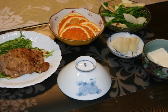 ★・・・豚肉のマスタード焼き_f0229190_13022754.jpg
