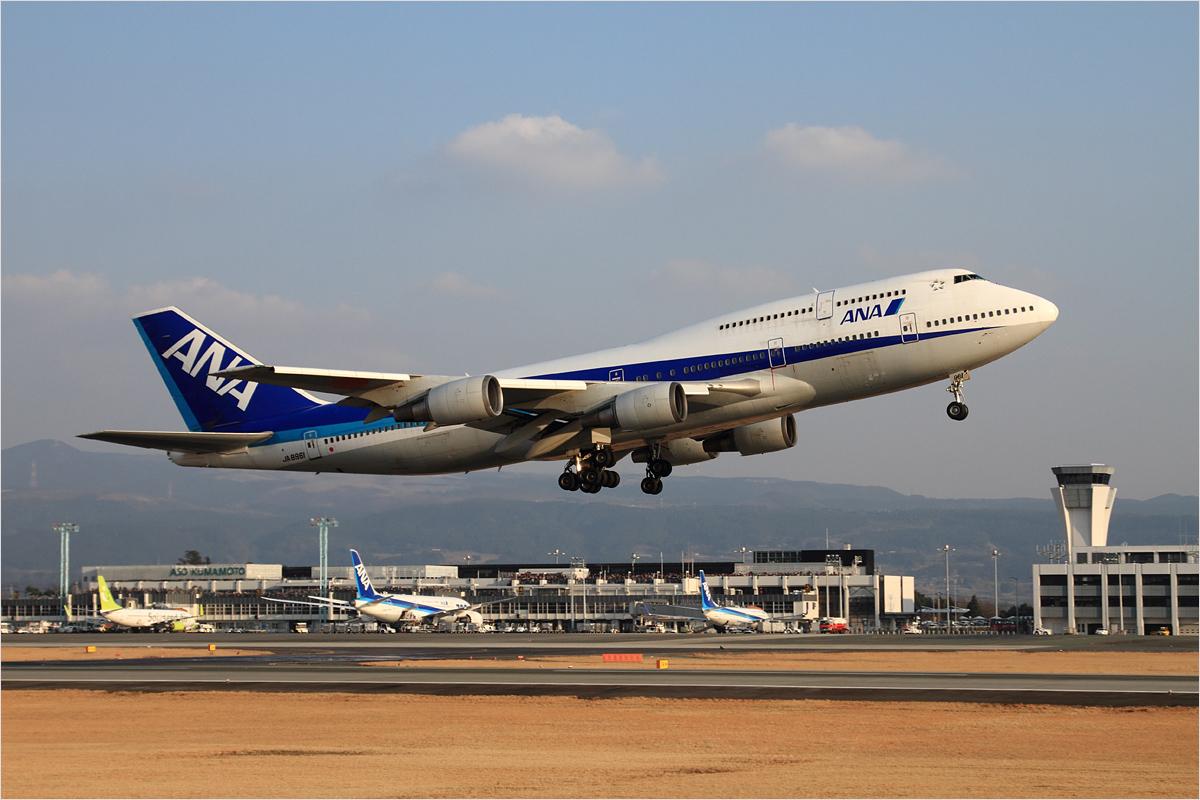 ANA 747 さよならフライト / 1 - 熊本空港_c0308259_2374759.jpg
