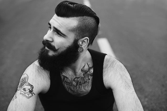 Psychobilly Hairstyle Men メンズヘアカタログ