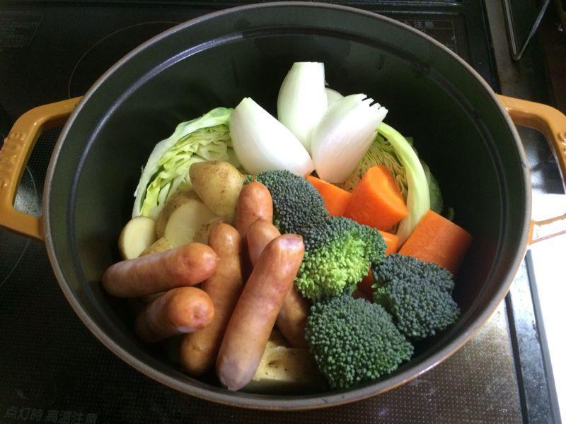野菜とソーセージ