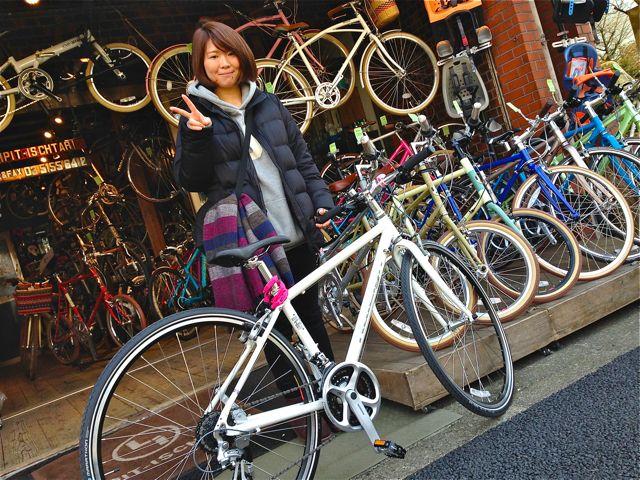 ☆今日のバイシクルガール5本立て☆ 自転車 女子 おしゃれ_b0212032_21592957.jpg