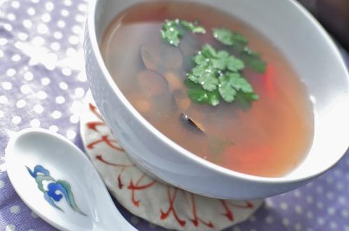 シジミとディルとトマトのスープ_f0318142_1435658.jpg