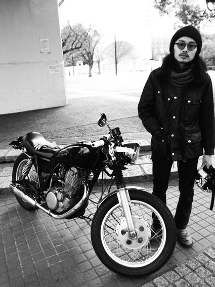 田村 涼 & YAMAHA SR400(2014 0224)_f0203027_11104242.jpg