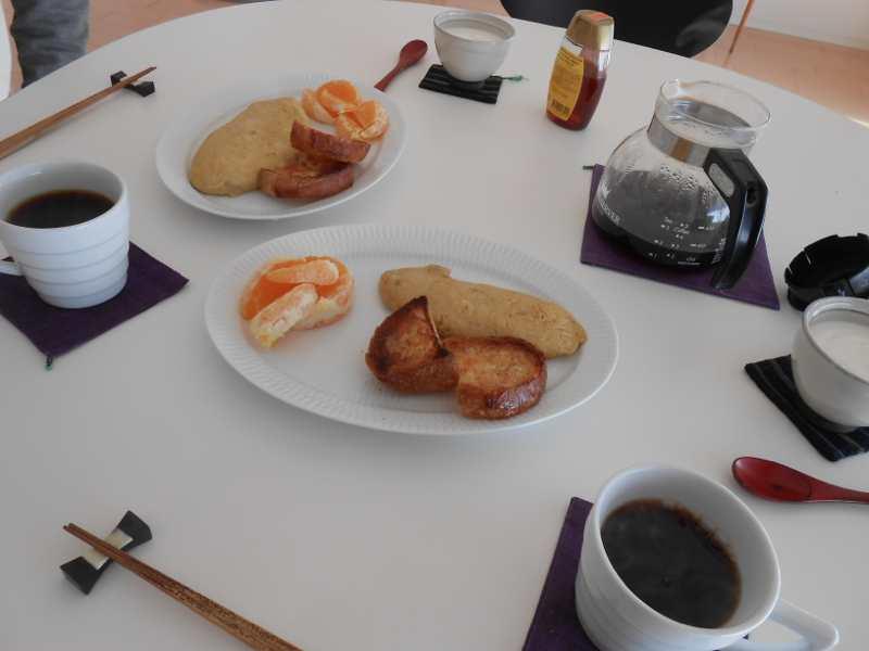 本日はのび丸の誕生日。朝ご飯はいつもより少し豪華。_a0095931_1519337.jpg