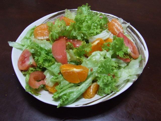 わさび菜のサラダ_f0019498_1402748.jpg