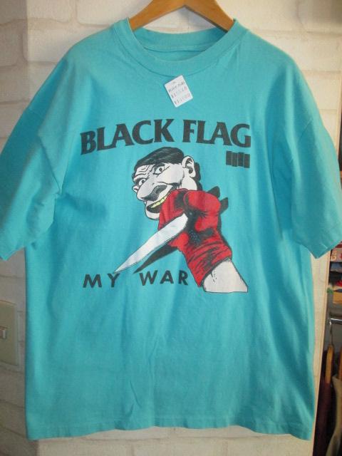 BLACK FLAG (ブラック・フラッグ) MY WAR Tシャツ 80年代 _f0181819_14344498.jpg