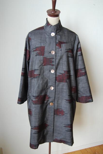着物リメイク・大島紬のコート_d0127925_150716.jpg