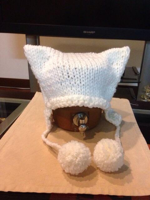 犬 耳 出し 帽子 編み 方