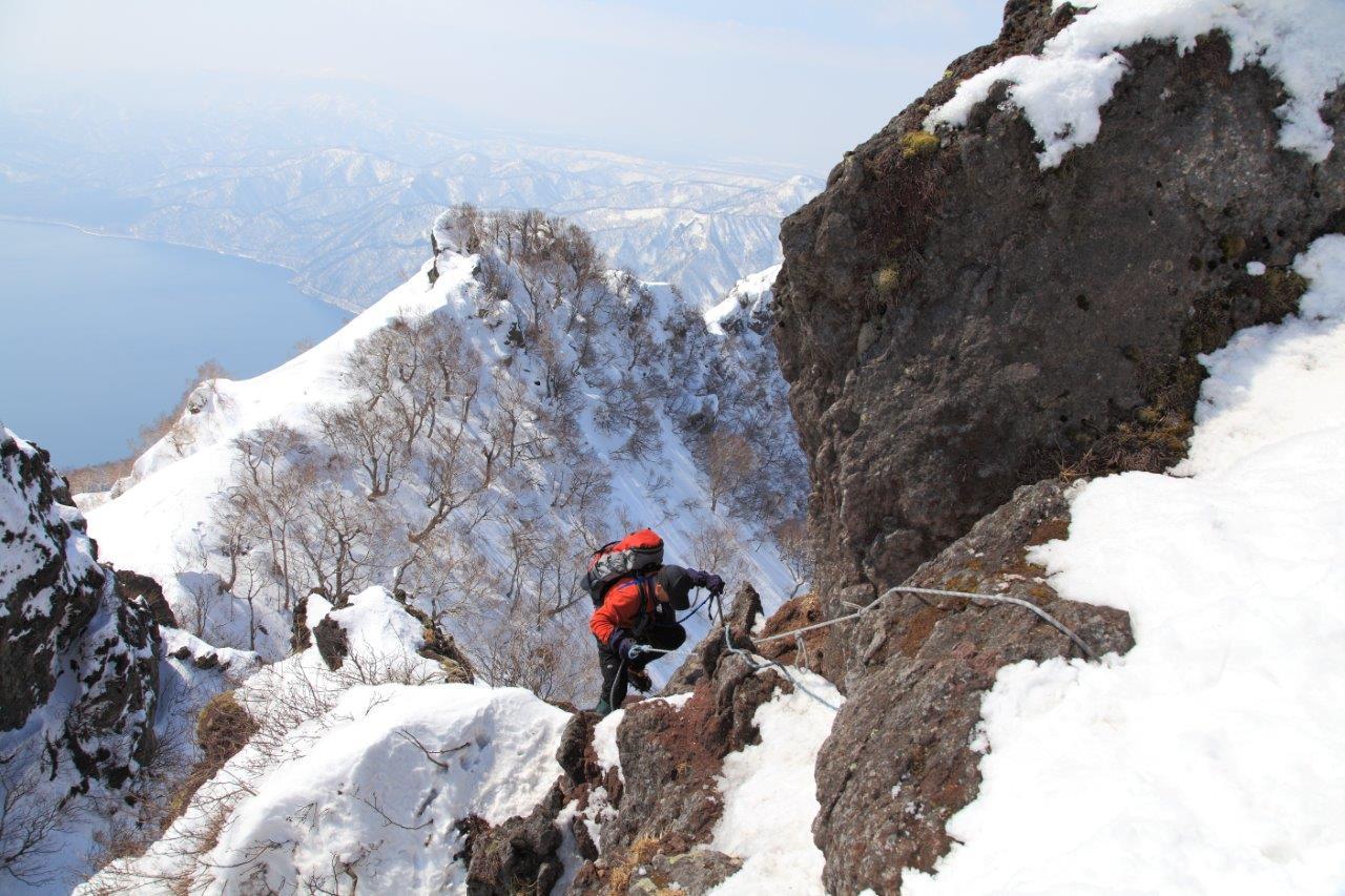 3月26日、恵庭岳-同行者からの写真-_f0138096_16441243.jpg