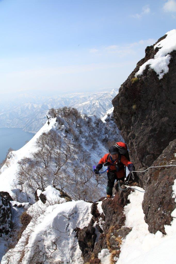 3月26日、恵庭岳-同行者からの写真-_f0138096_16442447.jpg