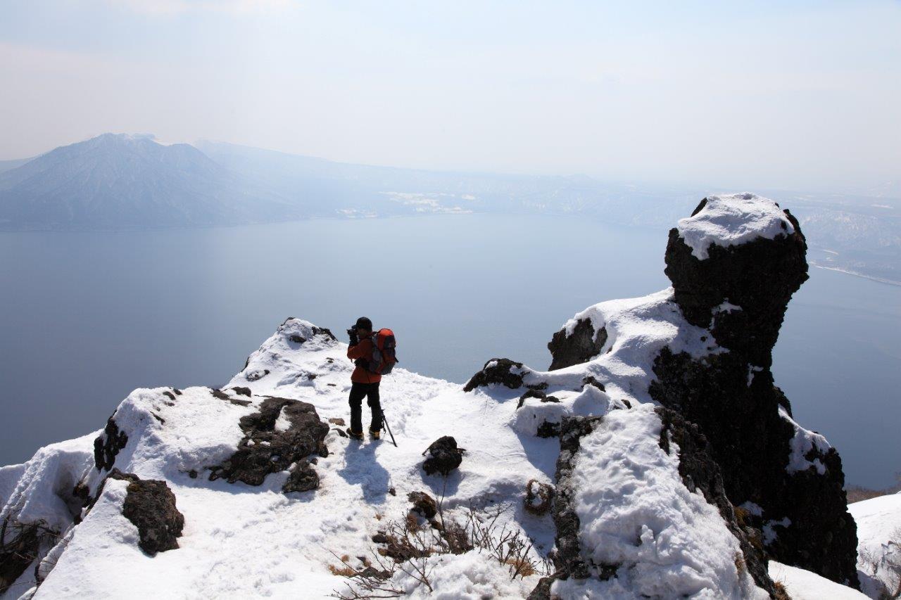 3月26日、恵庭岳-同行者からの写真-_f0138096_16443618.jpg