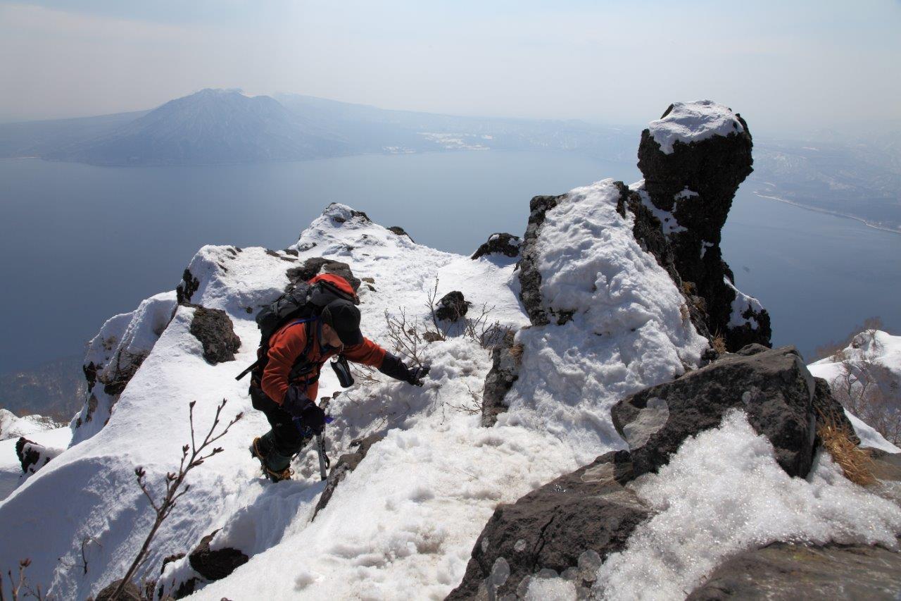 3月26日、恵庭岳-同行者からの写真-_f0138096_16444822.jpg