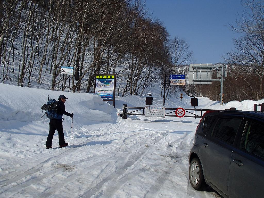 3月26日、恵庭岳-北東尾根から-_f0138096_22393892.jpg