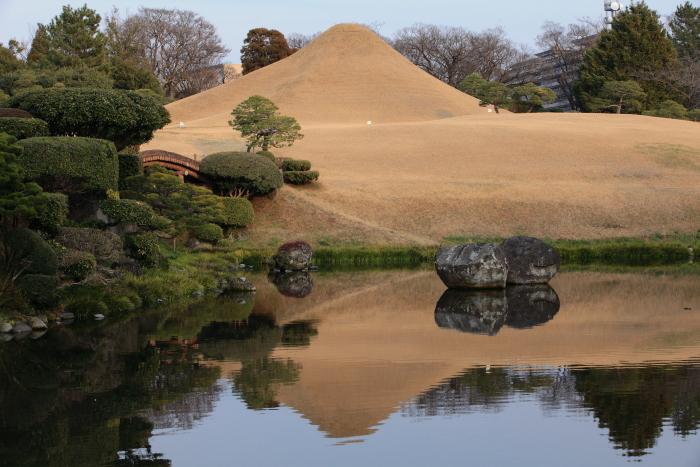 水前寺成趣園の富士山_e0135098_2284719.jpg