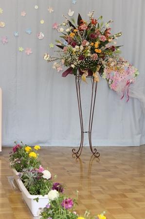 卒園式のスタンド花~!_d0227610_03120957.jpg