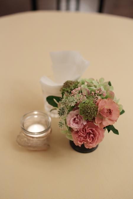 春の装花 とりかごの高砂装花 シェ松尾青山サロンさまへ_a0042928_22144486.jpg