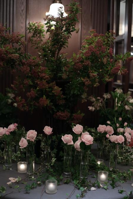 春の装花 とりかごの高砂装花 シェ松尾青山サロンさまへ_a0042928_22144943.jpg