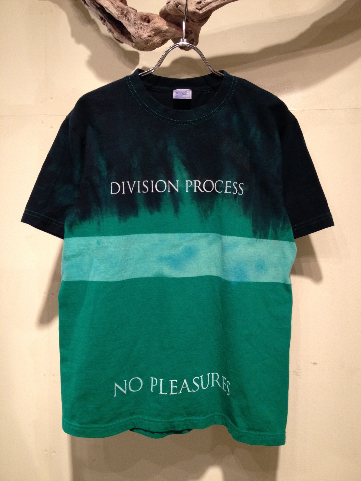 NO PLEASURES S/S Tee (Border Dye ver.)_f0126931_16584616.jpg