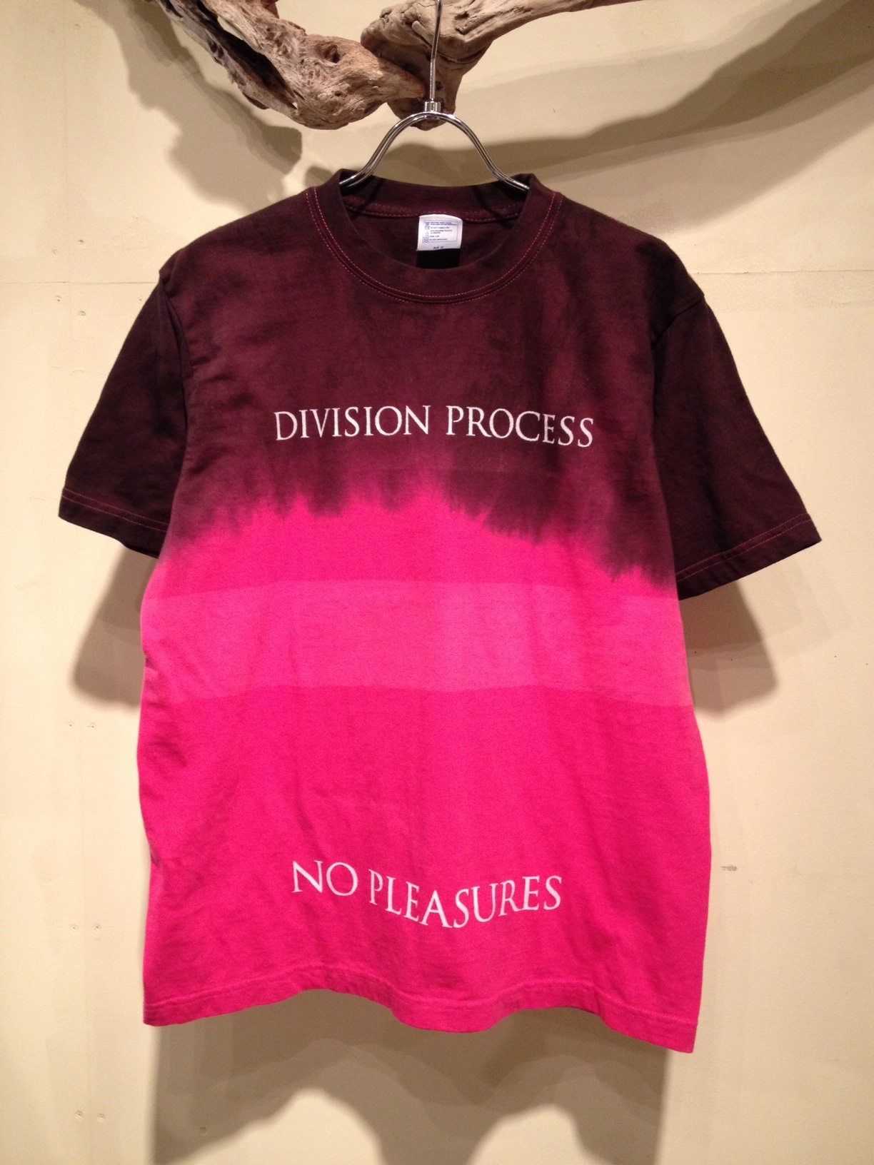 NO PLEASURES S/S Tee (Border Dye ver.)_f0126931_16584653.jpg