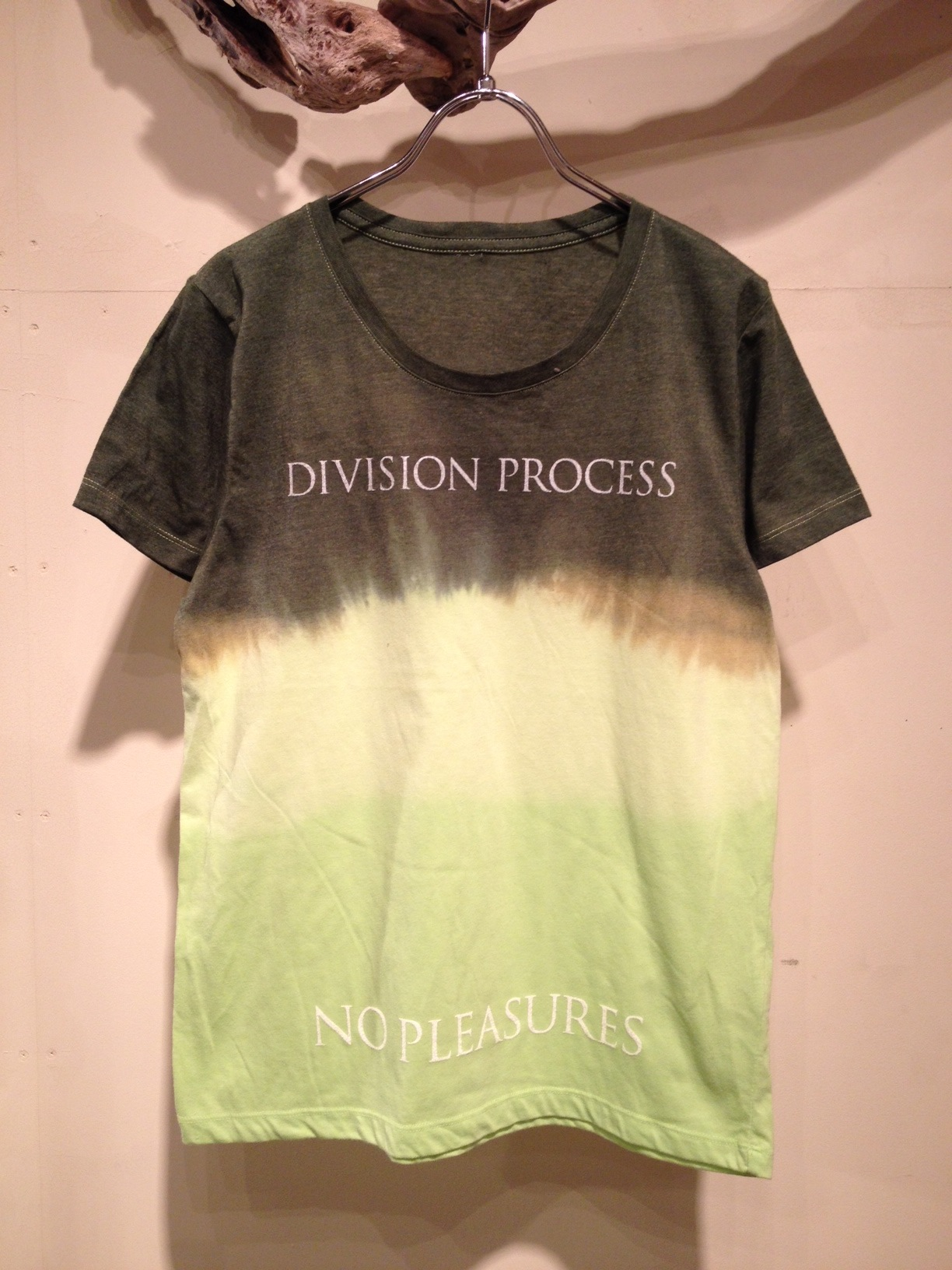 NO PLEASURES S/S Tee (Border Dye ver.)_f0126931_1659582.jpg