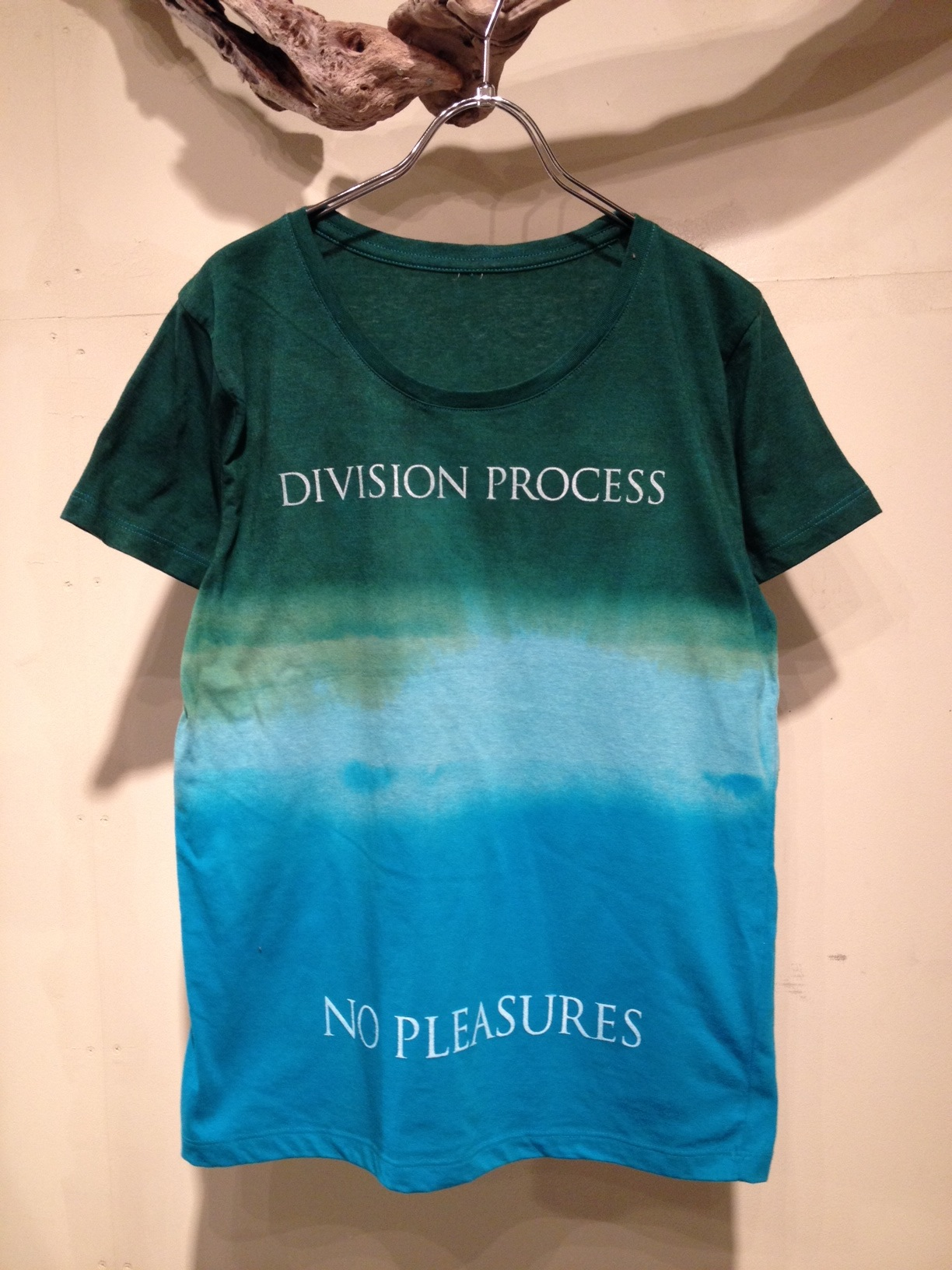 NO PLEASURES S/S Tee (Border Dye ver.)_f0126931_1659638.jpg