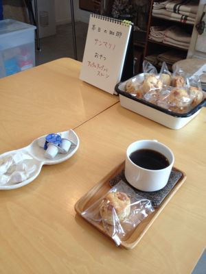 本日の oneday cafe。_a0164280_1655958.jpg