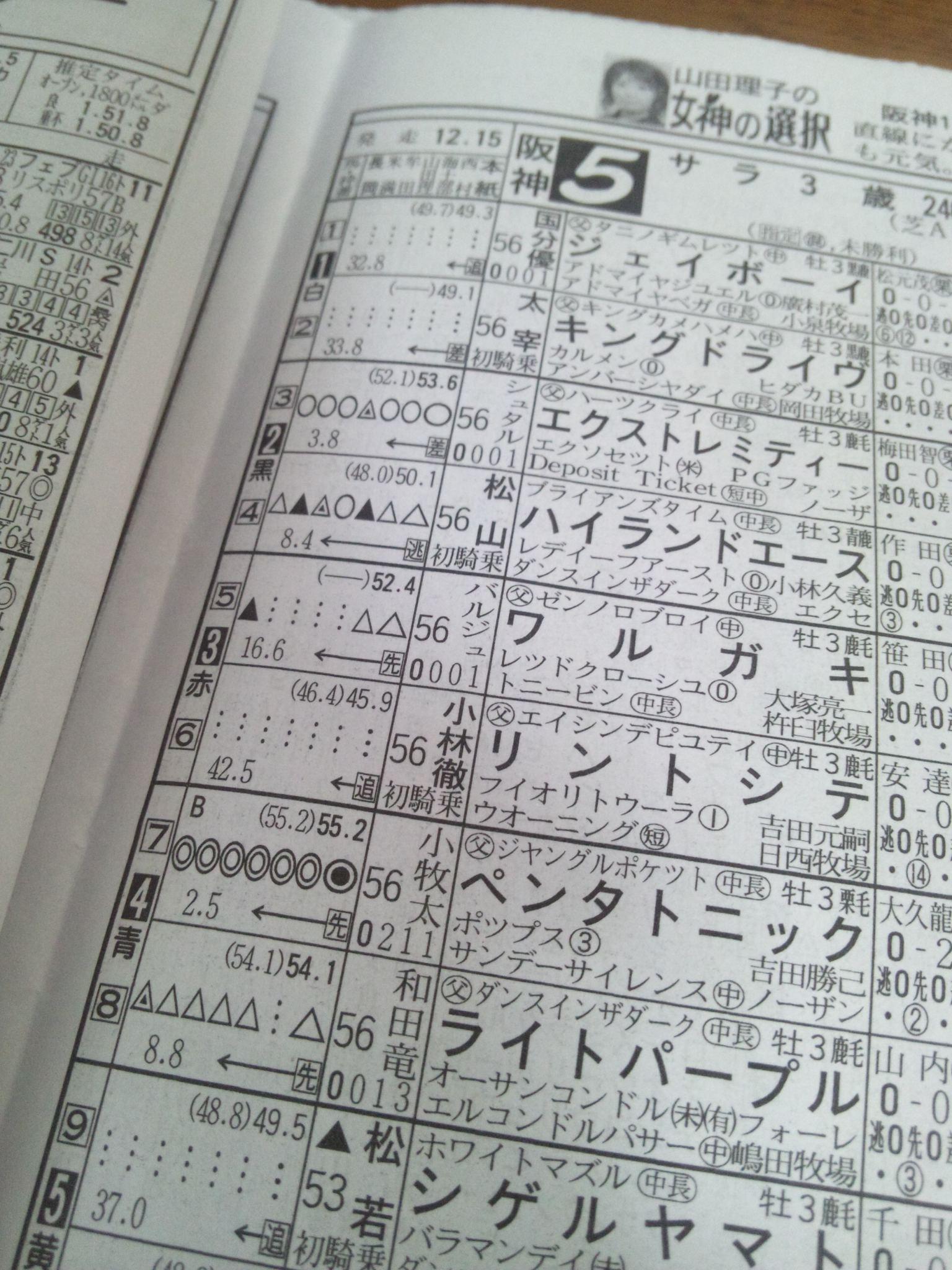 今日の阪神5レース_c0001670_8254493.jpg