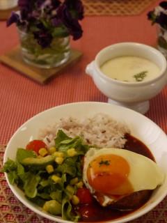 パルケ先生3月 dish lesson『ロコモコプレートランチ』 _e0159185_23224313.jpg