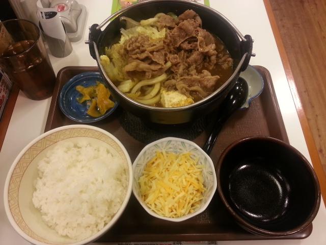 3/17 とろ~り チーズカレー鍋定食¥650@すき家_b0042308_23291579.jpg