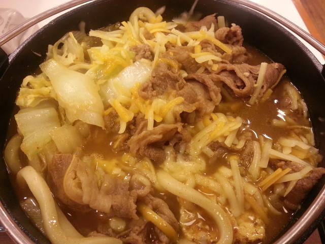 3/17 とろ~り チーズカレー鍋定食¥650@すき家_b0042308_23373954.jpg