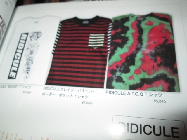 RIDICULE (リディキュール) A.T.C.Q Tシャツ_f0181819_175838100.jpg
