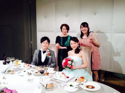 生徒さんの結婚式!!_c0131063_1295447.jpg