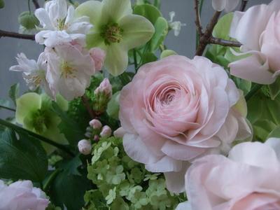 オークリーフ(桜とラナンキュラスのアレンジメント)_f0049672_11292145.jpg
