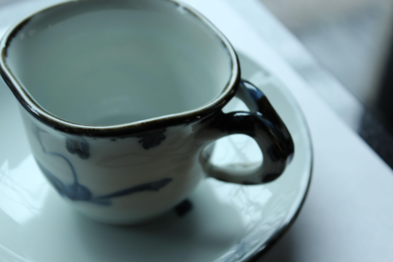 廣永窯  染付草文コーヒー碗皿_c0237627_2085878.jpg