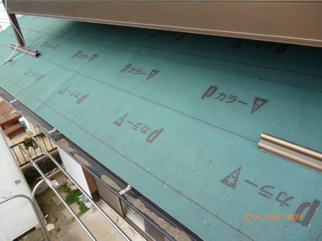 瓦の屋根を葺き替えています 2_e0207151_1336578.jpg