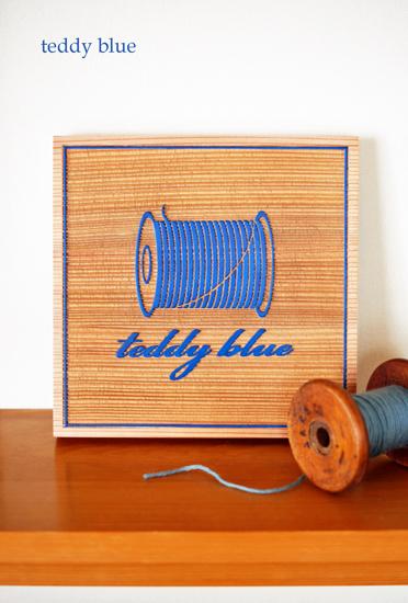 wood sign board for teddy blue  テディブルー サインボード_e0253364_2127226.jpg
