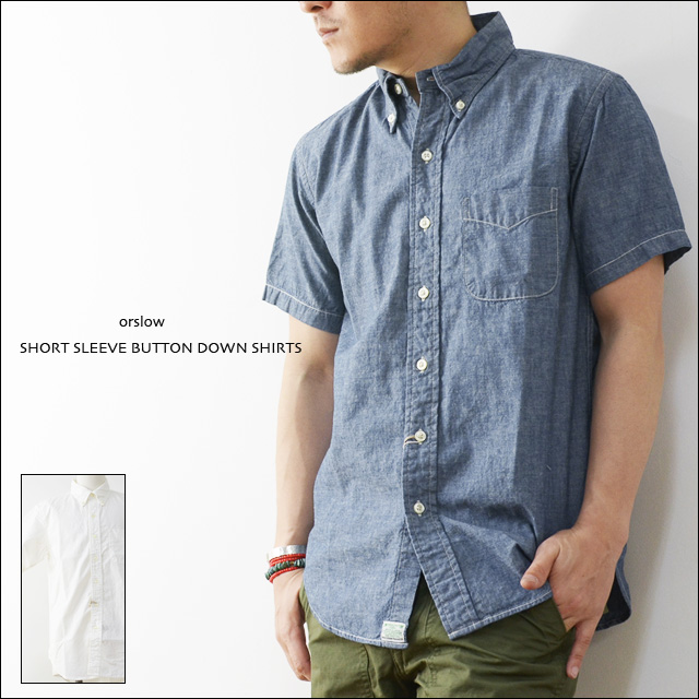 Orslow short sleeve button down shirts 01 8022 for Custom pattern button down shirts
