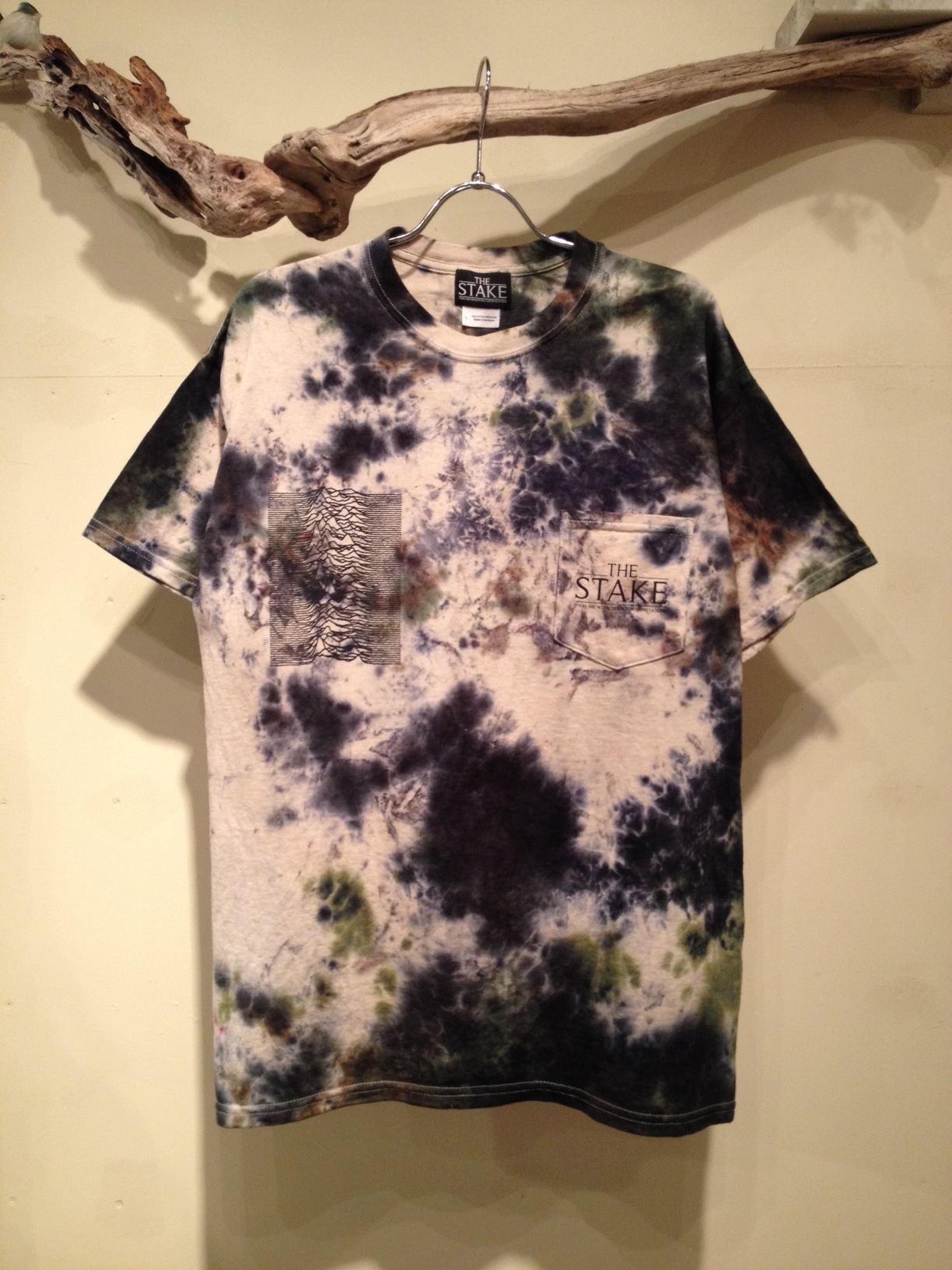 ALLAROUND x THE STAKE  COLLABORATION (Fac-10 SPOT DYEING S/S Tee)_f0126931_160250.jpg
