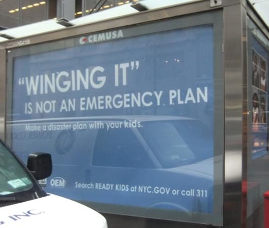 ニューヨークの街角ポスターから学ぶ英単語: Winging it_b0007805_2220976.jpg