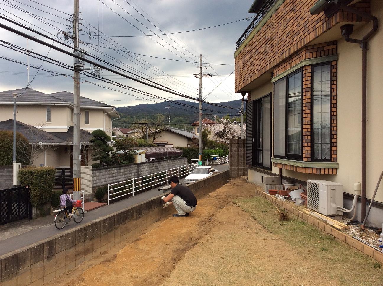 長岡京市H様ガーデンリフォーム【まずは撤去!】_e0128446_1823075.jpg