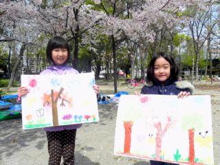 2014年桜満開の写生会_d0076558_16355776.jpg