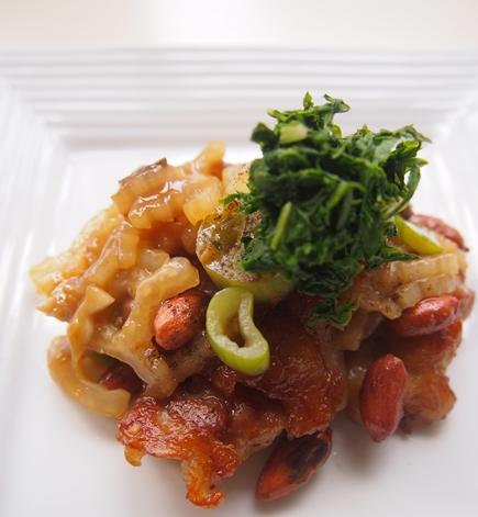 鶏と百合根、セロリの炒めもの_e0148373_15244510.jpg