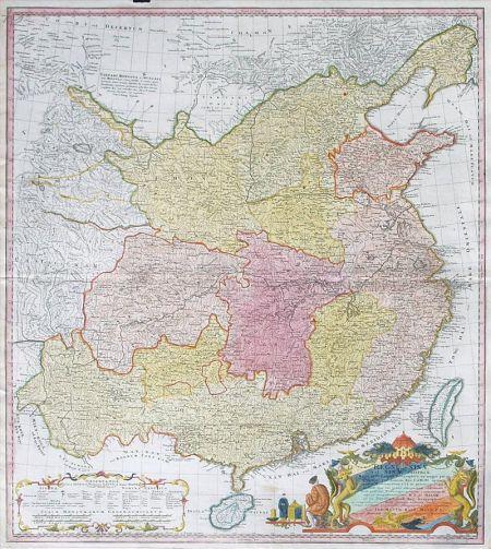 メルケル首相、1735年中国の古地図を習近平に送る!:昔の支那は小さかったわよ!_e0171614_1517367.jpg