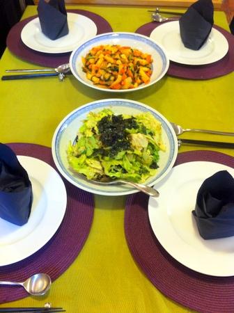料理教室・・・韓国料理「参鶏湯(サムゲタン)など♪」_f0141419_14281410.jpg