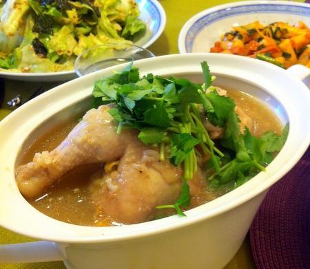 料理教室・・・韓国料理「参鶏湯(サムゲタン)など♪」_f0141419_14283461.jpg