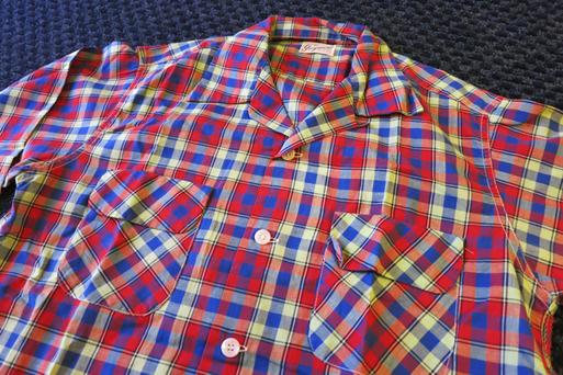 アメリカ仕入れ情報#5  50\'S  コットン オープンカラーシャツ! _c0144020_10334336.jpg