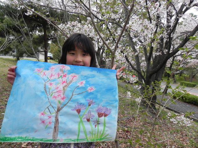 2014豊中花見ロードで写生会_d0076558_22020112.jpg