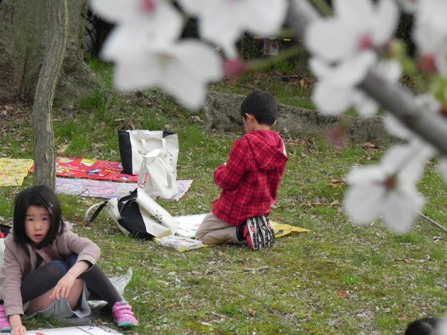 2014豊中花見ロードで写生会_d0076558_22081551.jpg