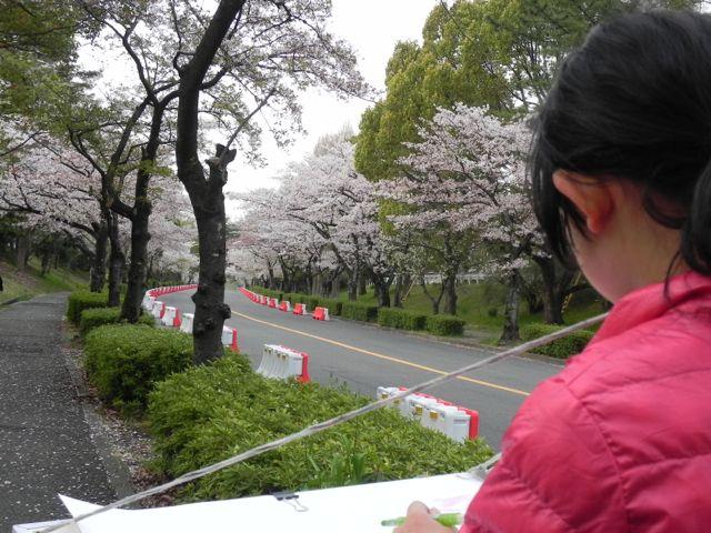 2014豊中花見ロードで写生会_d0076558_22090421.jpg